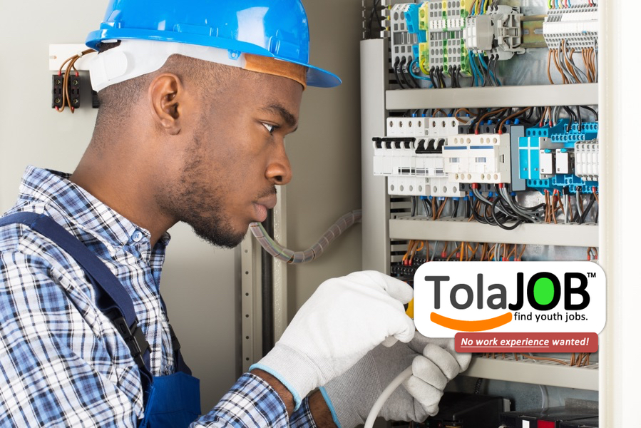 Earn BIG MONEY be an Electrician! A big company invites youth, with NO WORK EXPERIENCE, for job-training or learnership for 2018